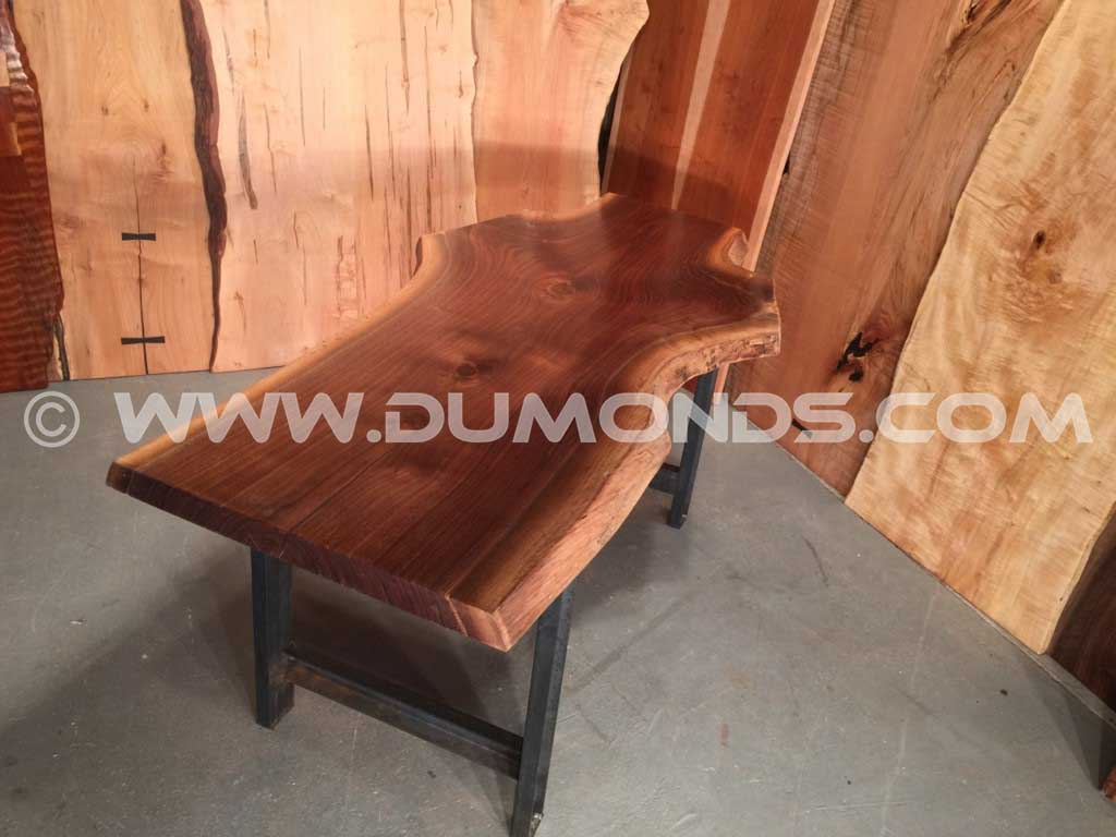 Natural Edge 6′ Recycled Walnut Crotch From Michigan