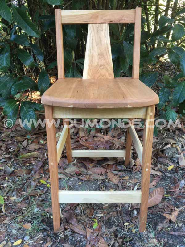 Solid Pennsylvania Cherry Bar Stool