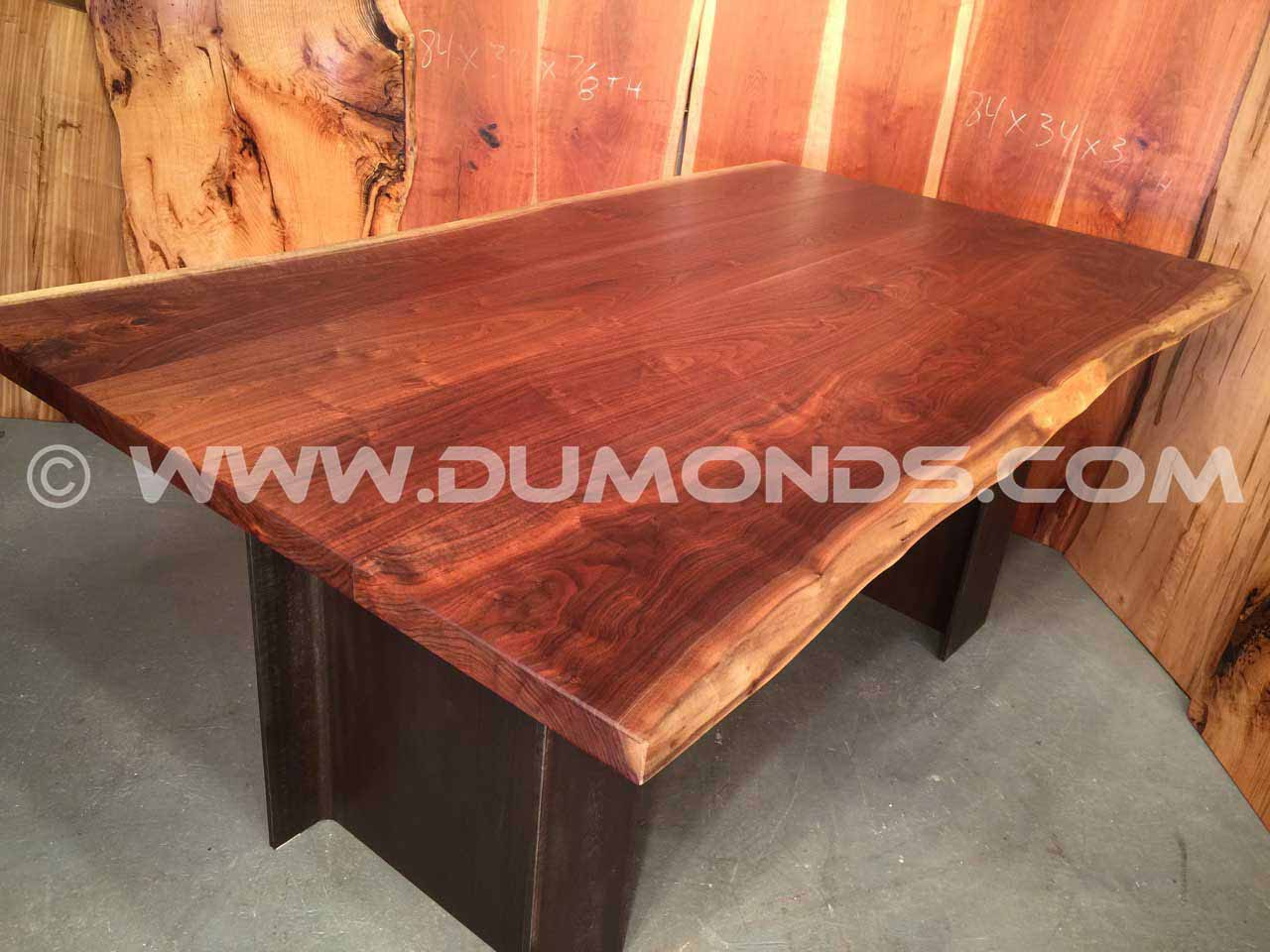 Beautiful Natural Edge Walnut Top