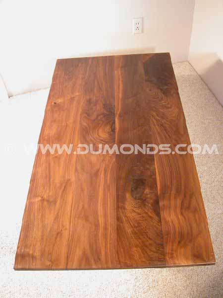 Knotty Walnut Custom Coffee Table