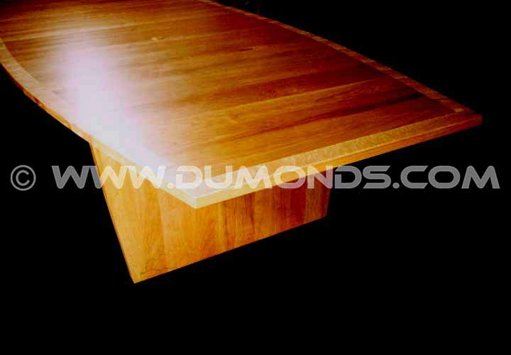 Cherry and birdseye maple custom boardroom or conference table
