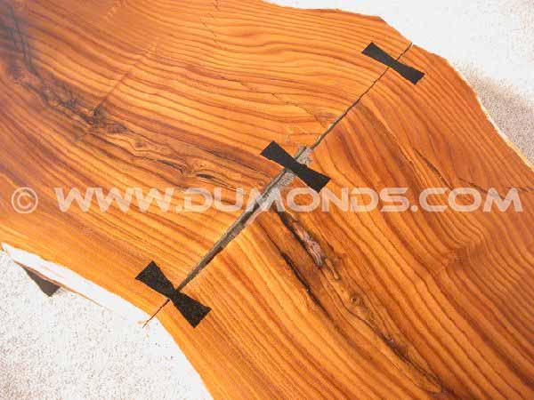 Large Rustic Olive Slab Custom Coffee Table 2