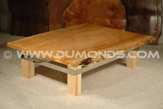 Maple Slab Custom Wooden Coffee Table