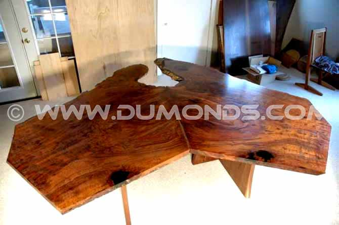 Modular (2 Piece) Claro Walnut Slab Table