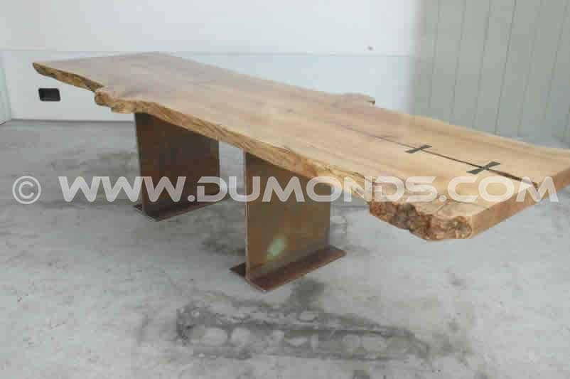 Natural LIve Edge Maple Slab Table
