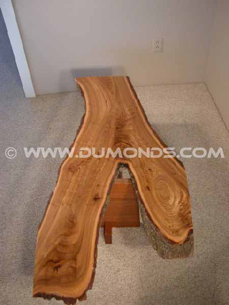 Organic Custom Siberian Elm Slab Coffee Table