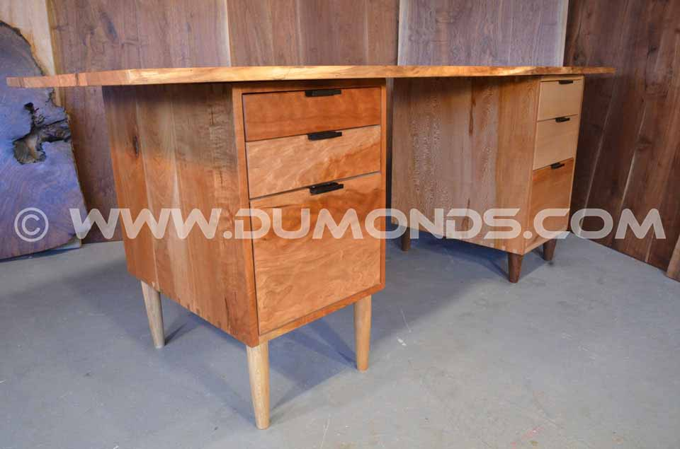 Cherry Slab Natural Edge Organic Desk