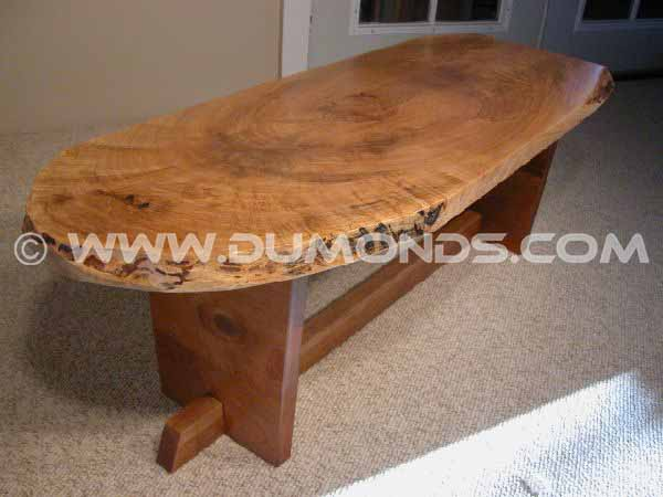 Organic Rusitc Slab Maple Custom Coffee Table