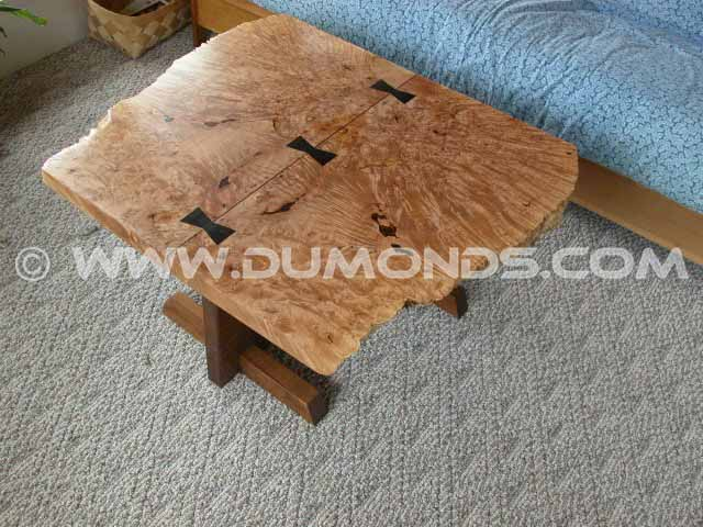 Organic Burl Maple Slab Coffee Table