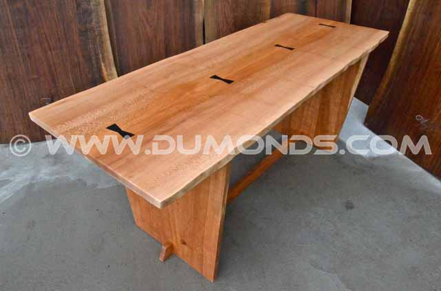 Wide Quarter Sawn Sycamore Desk Table
