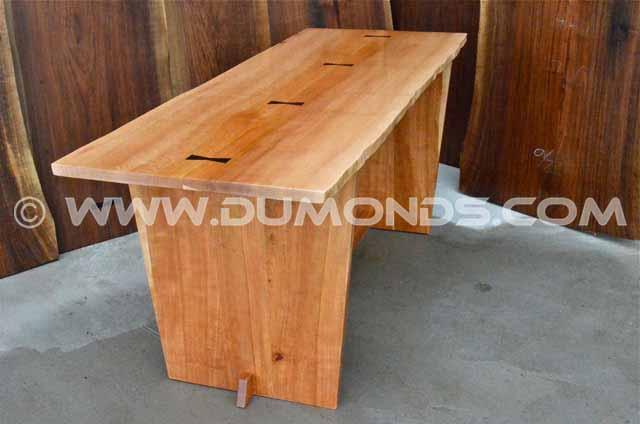 Quarter Sawn Sycamore and Cherry Desk