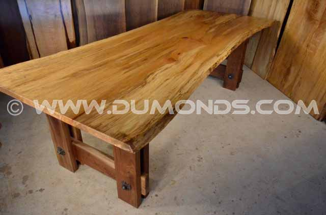 Quilted Spalted Sycamore Dining Table