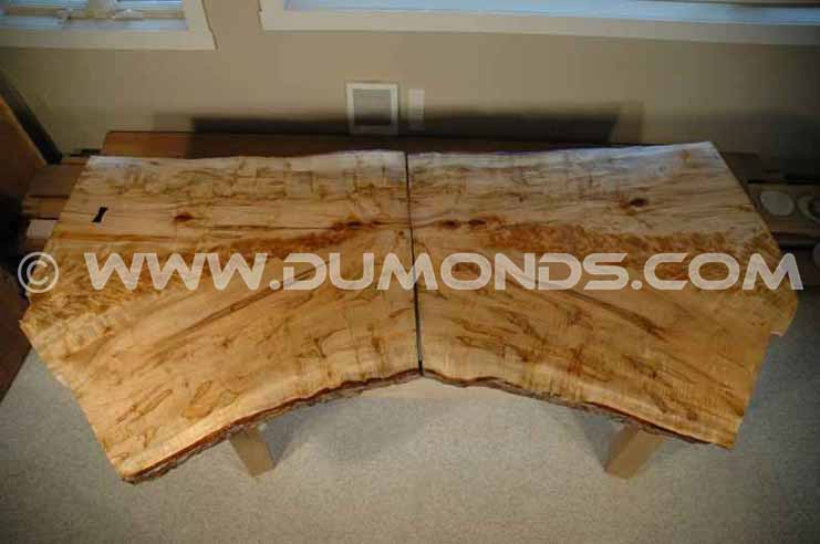 Recycled / Reclaimed Bookmatched Maple Crotch Table