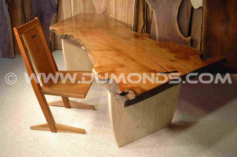 Rustic Burled Maple Slab Desk