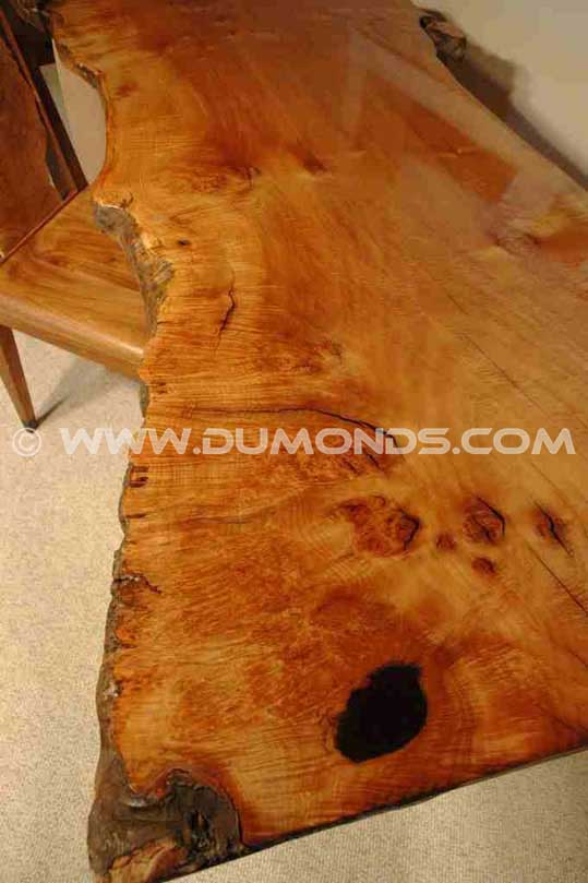 Handmade Burled Maple Slab Custom Desk