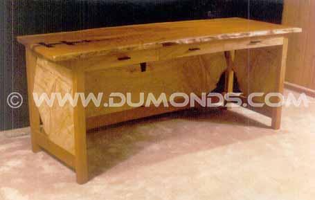 Custom Desk Executive ash and cherry