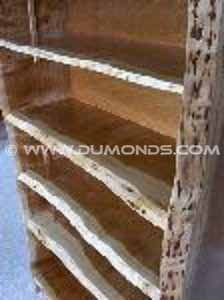6.5′ Cherry Custom Rustic Bookcase