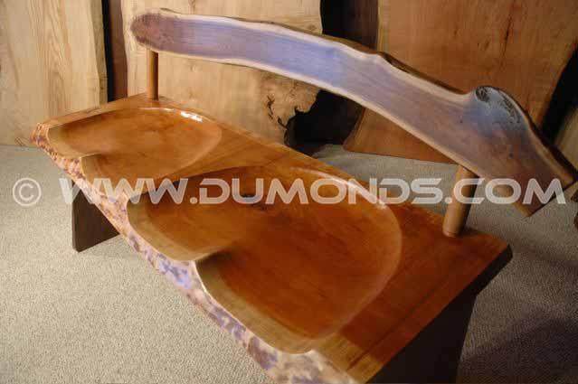 Rustic Custom Cherry Slab Bench