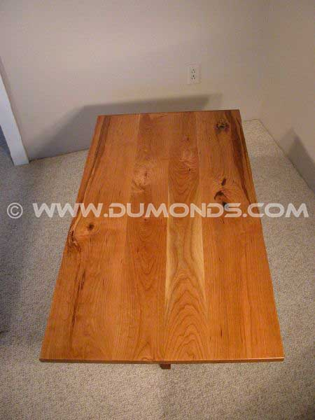 Rustic Knotty Cherry Custom Coffee Table
