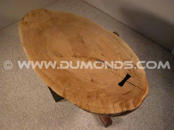 Rustic Large Maple Slab Custom End Table