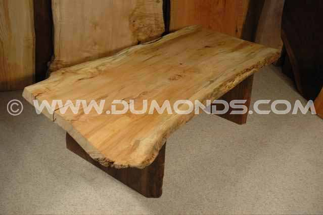 Rustic Spalted Maple Slab Coffee Table