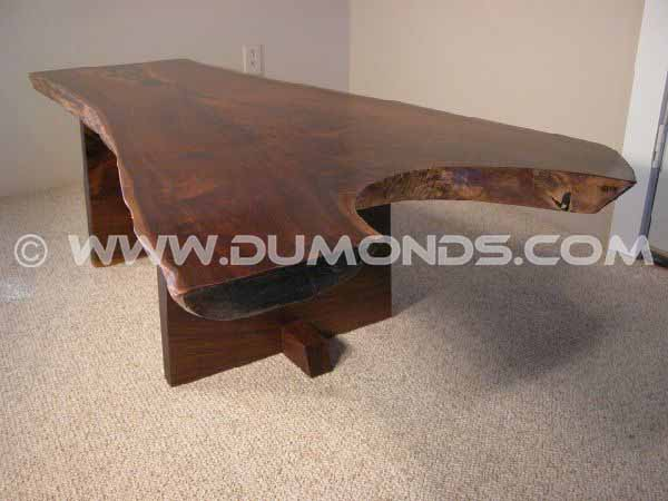 Rustic Walnut Crotch Slab Rustic Custom Coffee Table