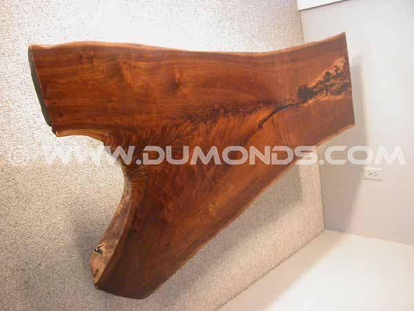 Custom Rustic Walnut Crotch Slab Coffee Table