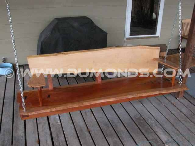 Custom Cherry Slab Porch Swing