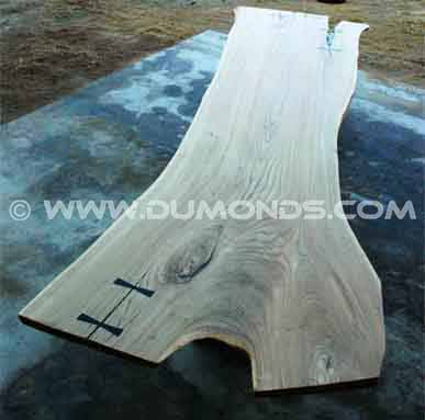 Siberian Elm Wood Slab Dining Room Table