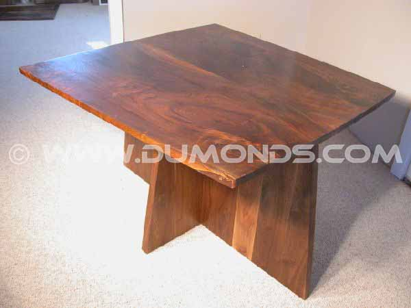 Small Figured Walnut Dining Table