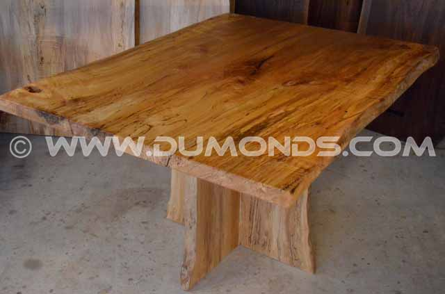 Spalted Curly Maple Live Edge Dining Table