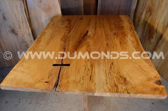 Spalted Curly Maple Live Edge Table