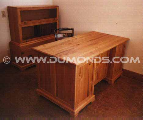 Custom Lawyer Desk in knotty cherry