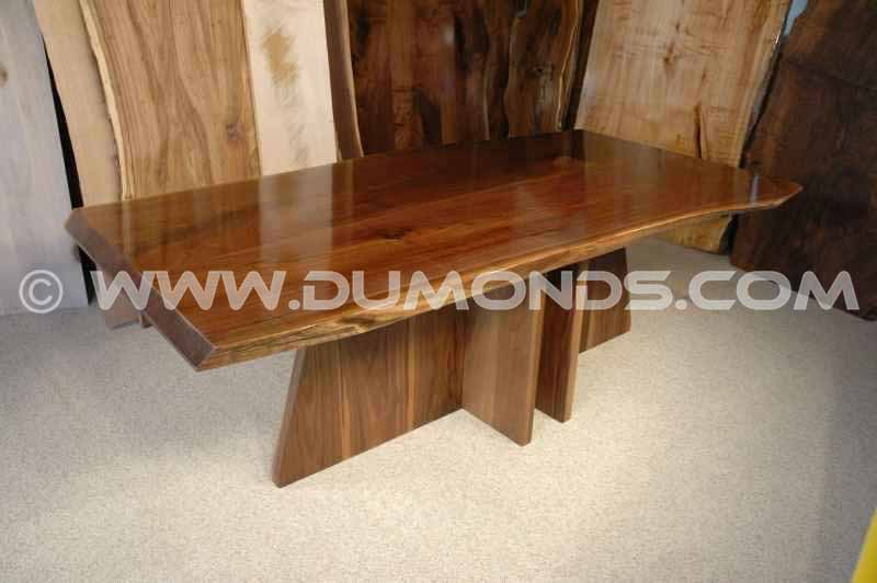 The King Custom Walnut Slab Dining Table Version 2