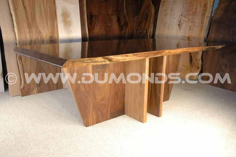 The King Custom Walnut Slab Dining Table Version 3