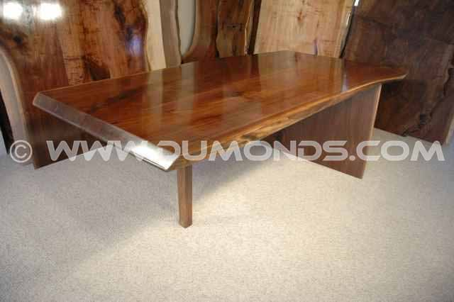 The Paparo Custom Rustic Walnut Slab Conference Table