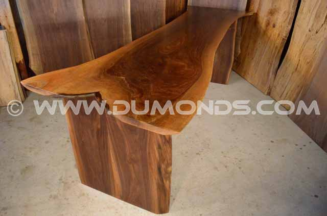 Thick Walnut Crotch Table