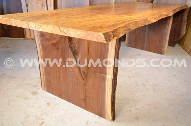 Spalted Curly Maple Live Egde Table