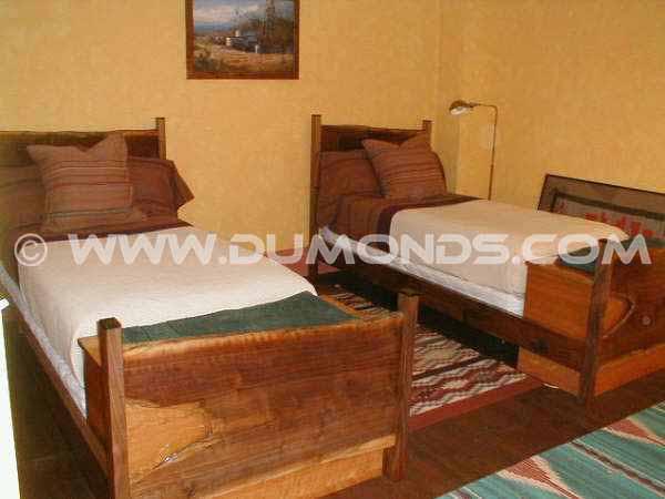 "The ""Pfeifer"" Rustic Walnut Slab Twin Custom Beds"
