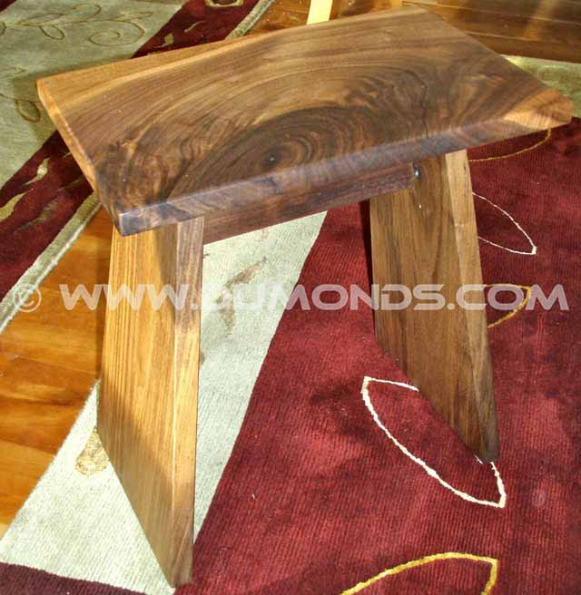 Live edge Walnut Conner Wooden Stool