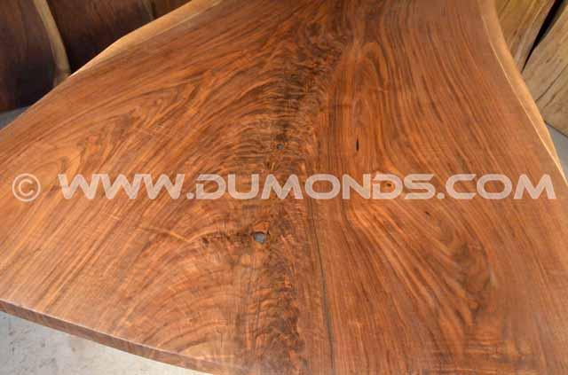 Walnut Crotch Desk with Steel I-beam Base