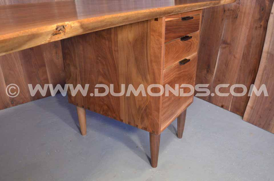 Walnut Crotch Slab Custom Executive Desk