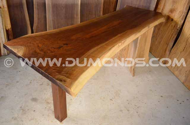 Walnut Natural Edge Crotch Table with Sycamore Pedestal