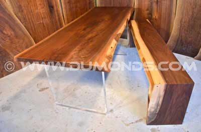 Natural Edge Walnut Crotch with Straight Walnut Base