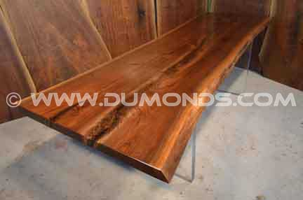 Burl Claro Walnut Slab Dining Room Table