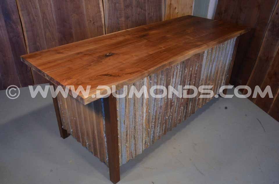 Handmade wood slab office desk