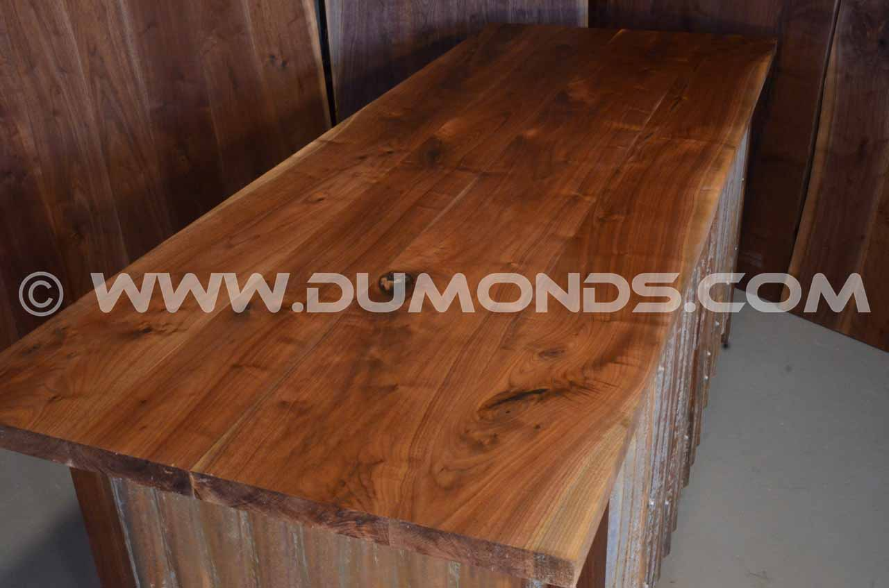 Walnut Slab Custom Executive Desk