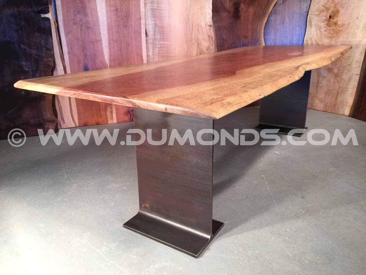 Bubinga Slab Custom Dining Table