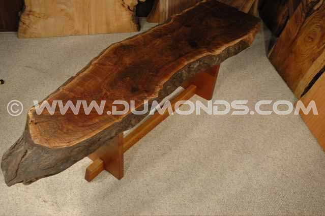 Custom Bastone Walnut Slab Coffee Table