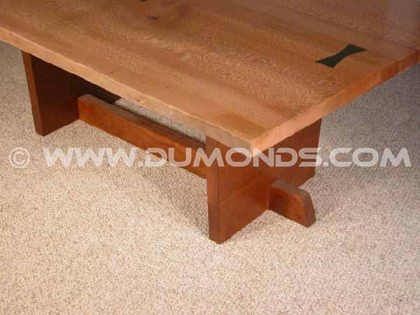 Sycamore Slab Rustic Coffee Table